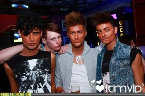 four douchebags in a row